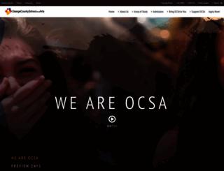 ocsarts.net screenshot