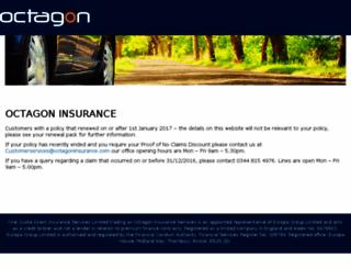 octagoninsurance.co.uk screenshot