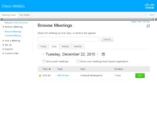octalsoft.webex.com screenshot