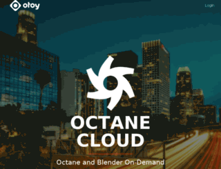 octanecloud.otoy.com screenshot