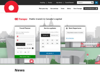octranspo1.com screenshot