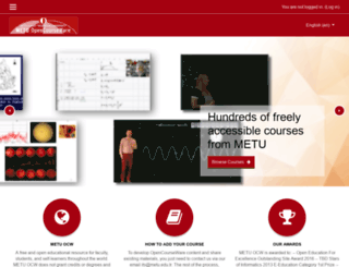 ocw.metu.edu.tr screenshot