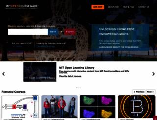 ocw.mit.edu screenshot