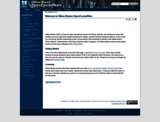 ocw.umb.edu screenshot