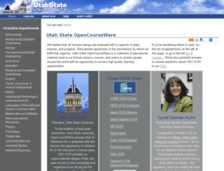 ocw.usu.edu screenshot