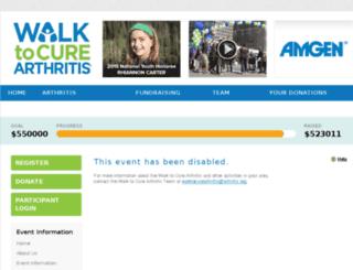 ocwalktocurearthritis.kintera.org screenshot