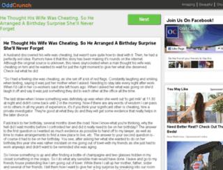 oddcrunch.com screenshot