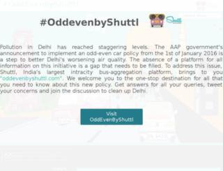 oddevenbyshuttl.com screenshot