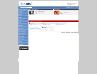 oddsbase.bestbetting.com screenshot