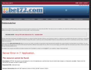 oddsmatcher.com screenshot