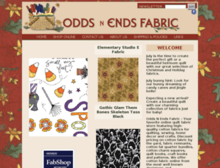 oddsnendsfabric.com screenshot