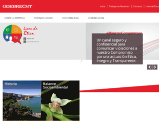 odebrecht.com.pe screenshot