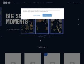 odeon.co.uk screenshot