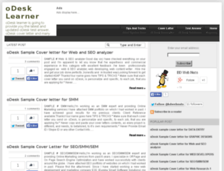 odesklearner.blogspot.com screenshot