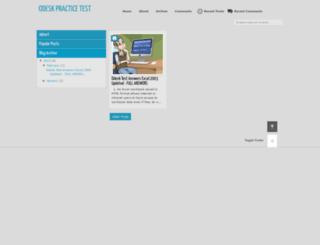 odeskpracticetest.blogspot.com screenshot
