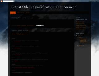 odeskqulificationtestanswer.blogspot.in screenshot