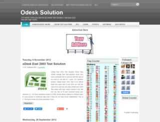odesksolutiontest.blogspot.com screenshot