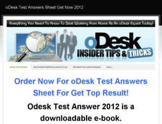 odesktests.weebly.com screenshot