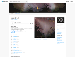 odetolaluna.bandcamp.com screenshot