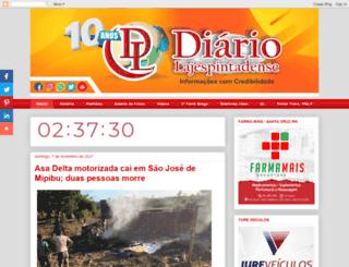 odiariolajespintadense.blogspot.com.br screenshot