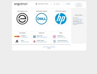 odm.ergotron.com screenshot