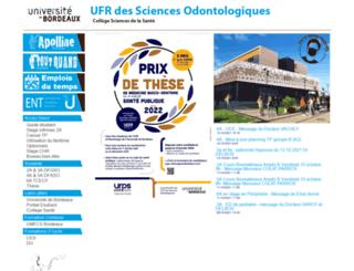 odonto.u-bordeaux2.fr screenshot