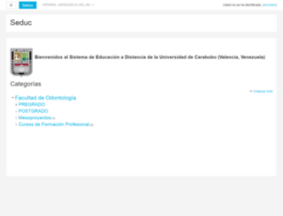 odontologia.uc.edu.ve screenshot
