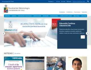 odontologia.uchile.cl screenshot