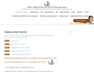 odpisy.com.pl screenshot