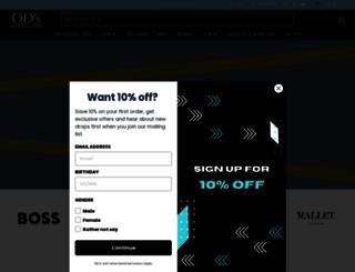 odsdesignerclothing.com screenshot