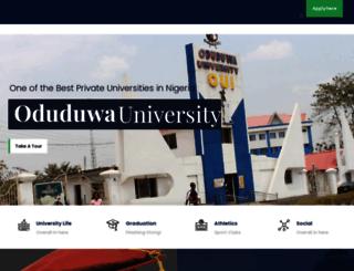 oduduwauniversity.edu.ng screenshot