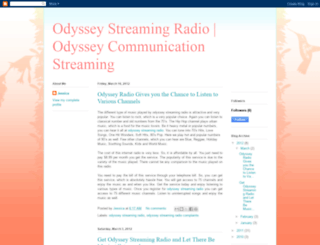 odyssey-streamingradio.blogspot.com screenshot