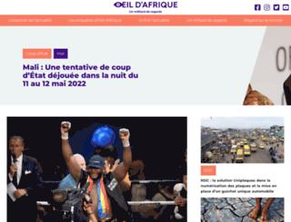 oeildafrique.com screenshot