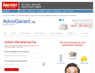 oekotest.advogarant.de screenshot