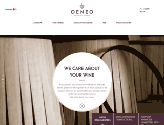 oeneo.com screenshot
