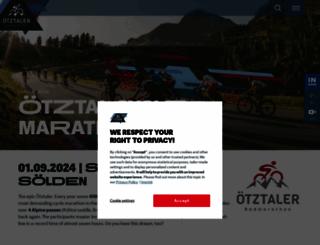 oetztaler-radmarathon.com screenshot