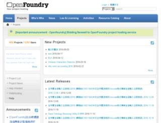 of.openfoundry.org screenshot