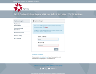 ofa.acls.org screenshot