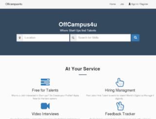 offcampus4u.co.in screenshot