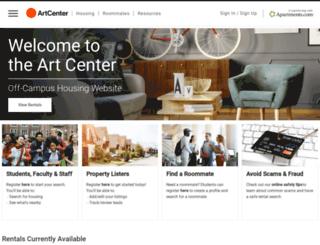 offcampushousing.artcenter.edu screenshot