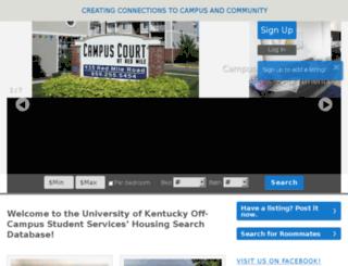 offcampushousing.uky.edu screenshot