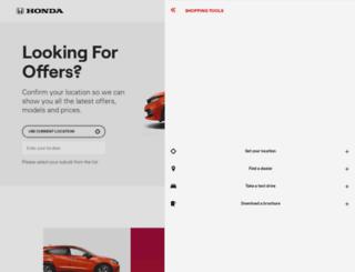 offers.honda.com.au screenshot