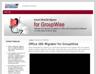 office365.groupwisemigration.net screenshot