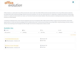 officeevolution.hireology.com screenshot
