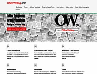 officewriting.com screenshot