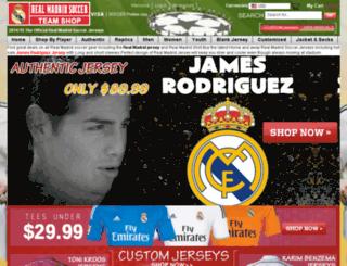 officialrealmadridjerseys.com screenshot
