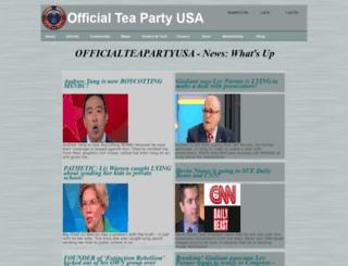officialteapartyusa.com screenshot