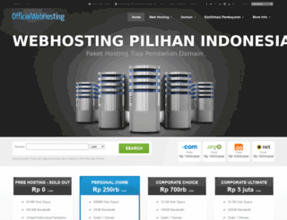 officialwebhosting.net screenshot