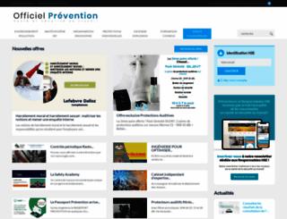 officiel-prevention.com screenshot