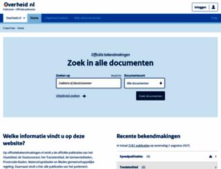 officielebekendmakingen.nl screenshot